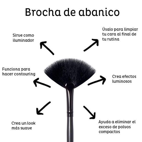 brocha abanico - Guía de Brochas y Pinceles y como usarlos