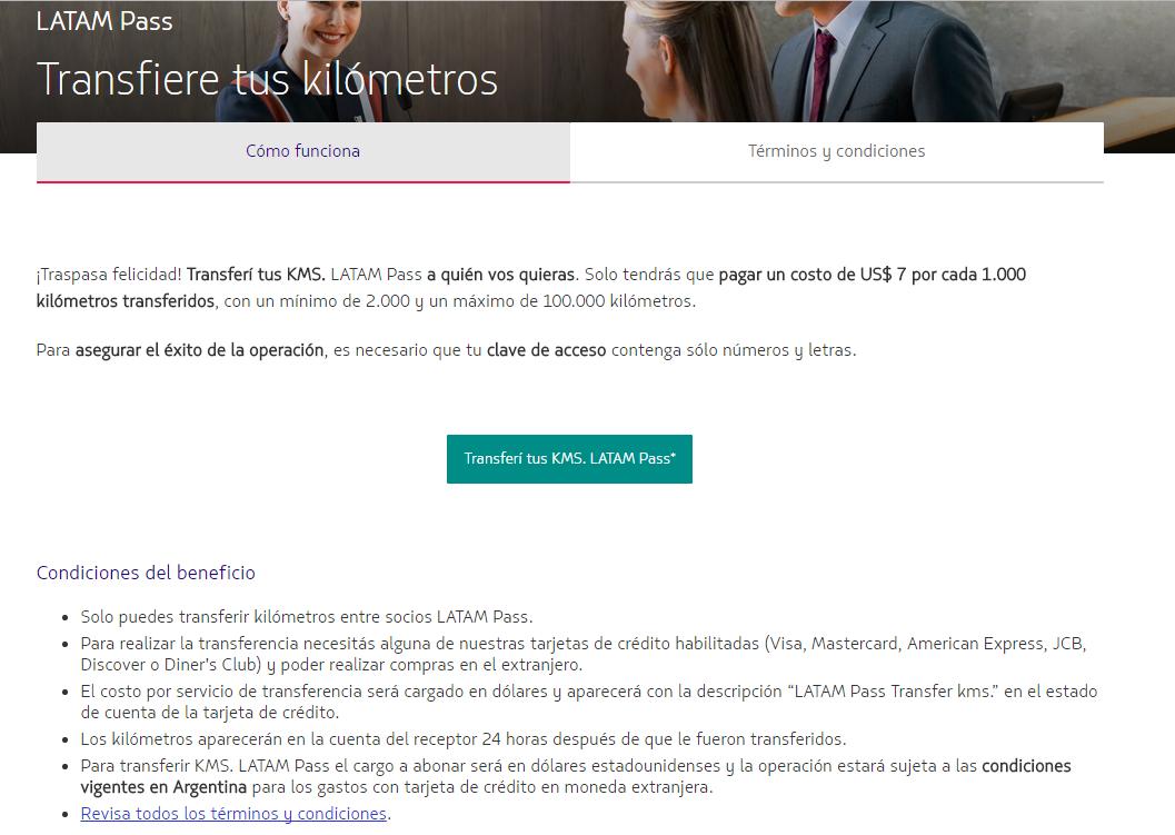 latampas - Transferencia de KMS LATAMPASS