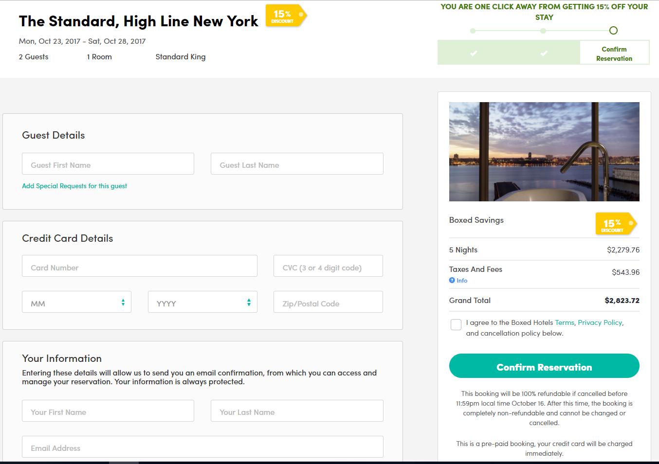 confirmacion - BOXED Hotels el nuevo sitio web de reservas de hoteles que ofrece hasta un 40% de descuento